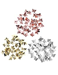 MonkeyJack 150 Pieces Vintage Butterfly Charms Pendant Filigree Wraps Connectors for Bracelet Necklace Jewelry Accessories Making DIY Craft Silver/Rose Gold/Gold