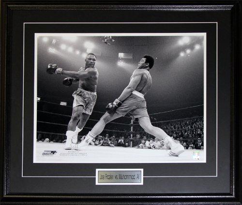 Joe Frazier vs. Muhammad Ali boxing 16x20 frame (Joe Frazier Autograph)