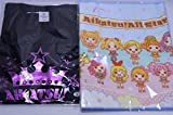 Aikatsu Music Festival T-shirt pink S Theatrical Aikatsu All-Star towel