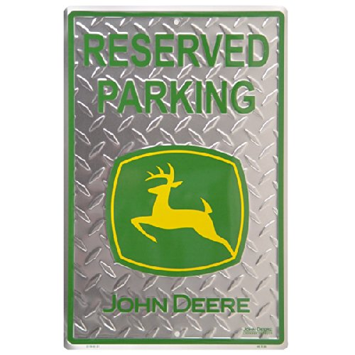 John Deere Parking Sign - John Deere Reserved Parking Diamond Tin Sign
