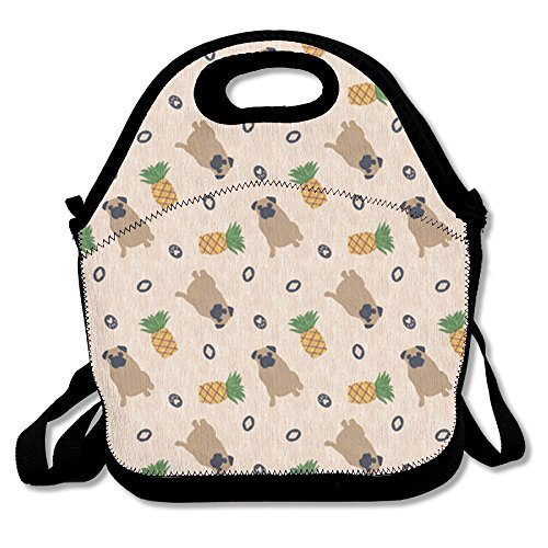 Primitive Pug And Pineapple Lunch Bags