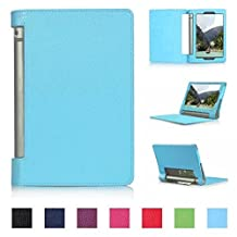 Tsmine Lenovo Yoga Tablet 2 10 Flip Case - Auto Sleep & Awake Slim Magnetic Smart Cover Folio Protective PU Leather Stand Case (Fit Lenovo Yoga Tablet 2 10-Inch Android and Windows Version), Baby Blue