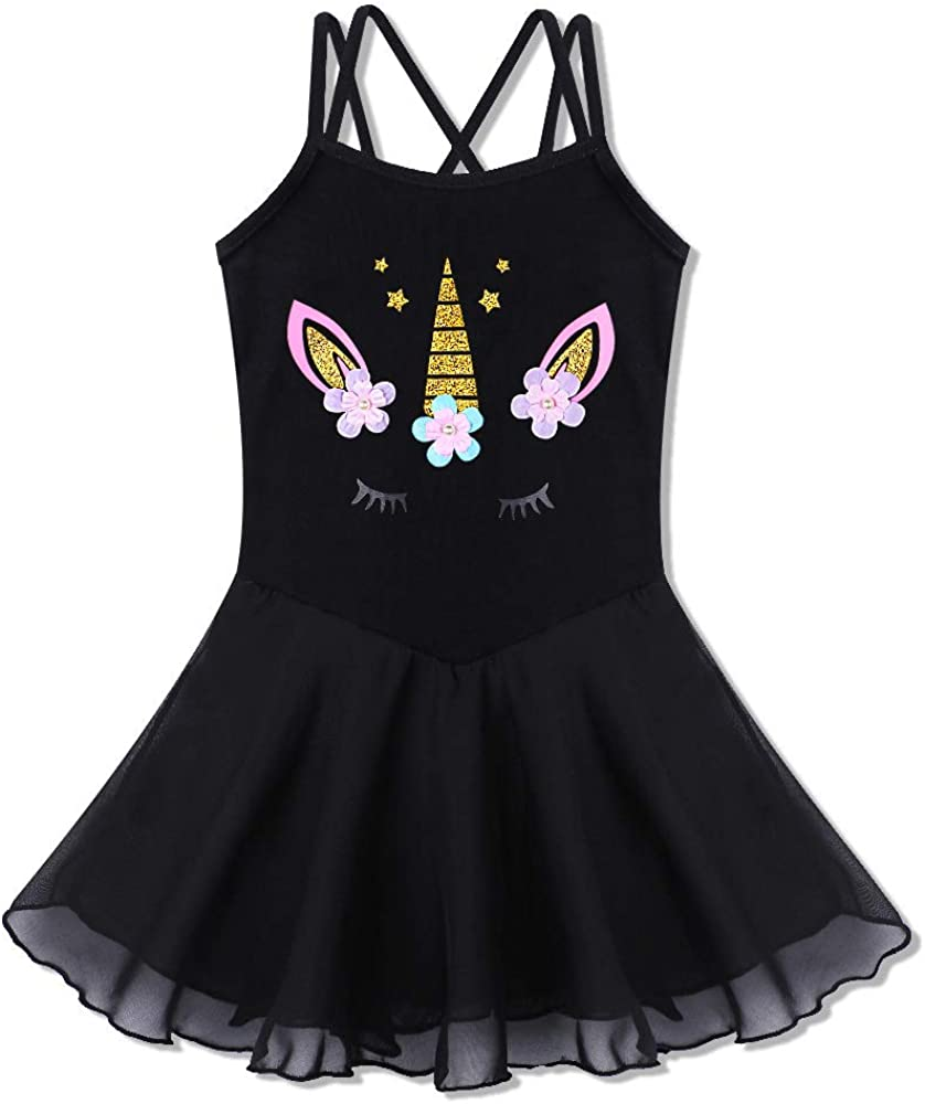 sharkiller Girls Ballet Leotard Camisole Tutu Dance Dress for Dance Gymnastics Ballerina