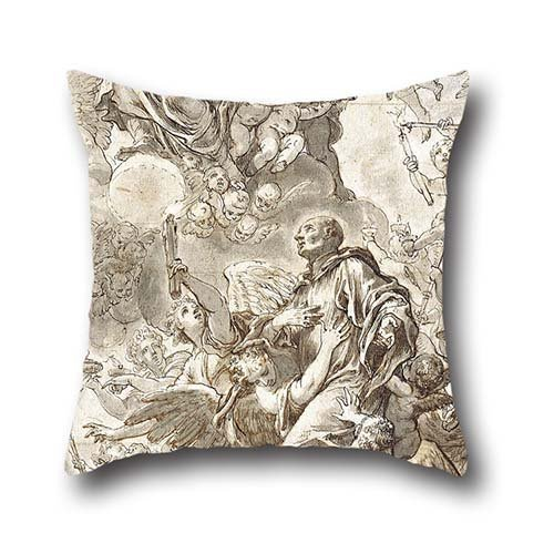 - Oil Painting Johann Andreas Wolff - The Apotheosis Of Saint Benedict Cushion Cases 20 X 20 Inches / 50 By 50 Cm For Him,seat,valentine,wedding,coffee House,adults With Double Sides