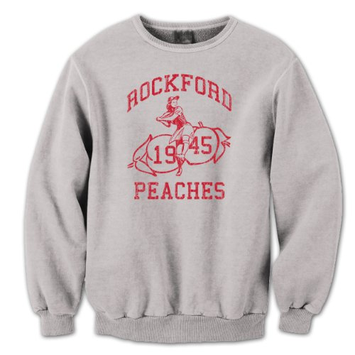 Sweatshirt Rockford - Rockford Peaches Mens Sweatshirt Small Gray