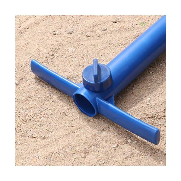 Yardwe Picchetto di Supporto per ombrellone Mare Spiaggia in plastica Porta ombrellone da Spiaggia per resistere a Forti… 6 spesavip