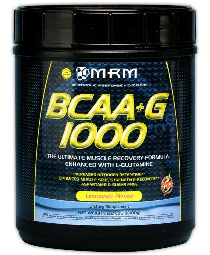 MRM BCAA + G, limonade, 35,2 onces pot en plastique (1000g)