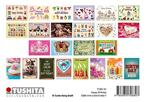 HAPPY BIRTHDAY Paperback – 27 Jul 2017 POSTCARD BOOK Tushita Verlag 395570680X Address Books