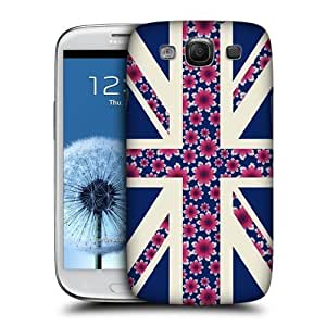 AIYAYA Samsung Case Designs Midnight Blue Floral Union Jack Collection Protective Snap-on Hard Back Case Cover for Samsung Galaxy S3 III I9300 hjbrhga1544