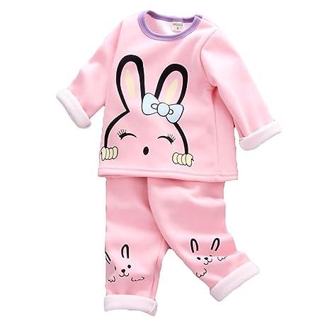 Pijamas para niños - Ropa interior térmica de cachemira Plus para niños Ropa para niños y