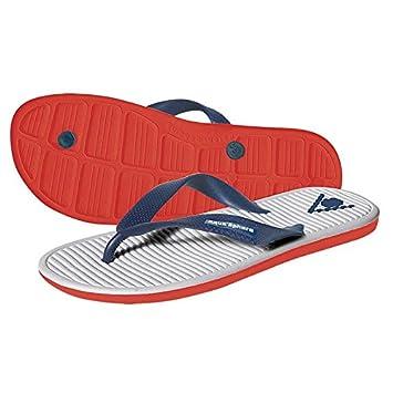 Aquatic Footwear Unisex Flip Flops Hawaii (38 EU) (Weiß/Rot) n8qax
