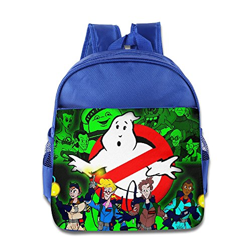 Kids The Real Ghost Busters School Backpack Funny Baby Children School Bags RoyalBlue -