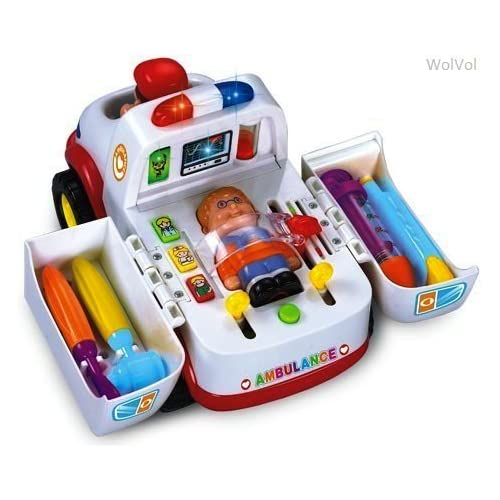 WolVol Educational Ambulance Activity Toy with Medical
