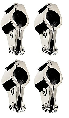 Four Units of Stainless Steel Bimini Top Hinge - Rail Mounts 1