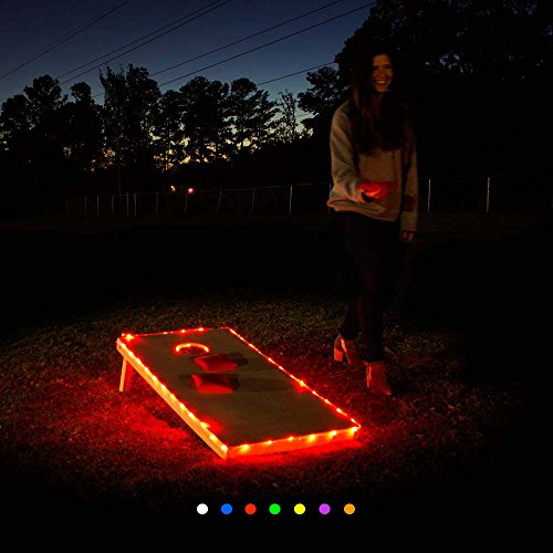Cornhole Lights - Edge Lights (Red) University Pool Table