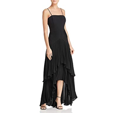 efd41f50a0 Laundry by Shelli Segal Womens High Low Special Occasion Evening Dress  Black 0