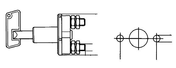 HELLA 6EK 002 843-017 Hauptschalter 100A Batterie