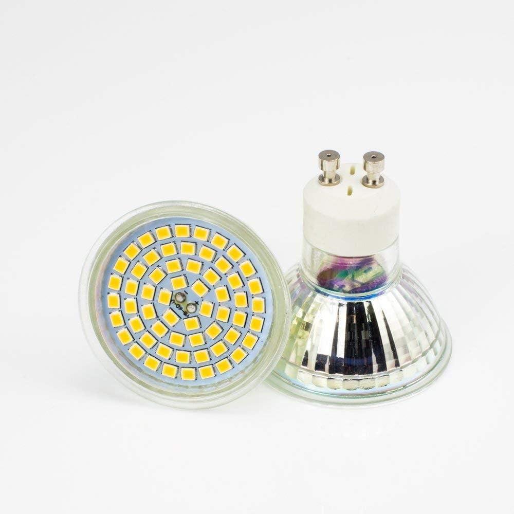 10X 4W GU10 LED lampadine bianco freddo 6000K risparmio energetico AC210-240V 420LM lampadina alogena sostituzione Bianco freddo X10 Bianco Caldo X4