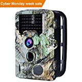 Trail Camera - AUCEE Tracker Trail Camera, 16MP 1080P 120° PIR Sensor Wildlife Hunting Camera 65ft Infrared Scouting Camera with Night Vision 46pcs IR LEDs, IP56 Waterproof 0.2s Trigger Time Game Camera