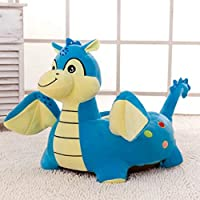 Kids Cartoon Animal Plush Sofa Seat, PP Cotton Plush Riding Toys Bean Bag Chair Seat, Mini Lounger Sofa,Soft Tatami Chairs,Birthday Gifts for Boys and Girls