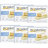 WonderSlim Low-Carb 15g Protein Diet Bar - Fluffy Vanilla Crisp - High Fiber Weight Loss Snack Bar - Gluten Free 6 Boxes Value Pack (Save 15%)