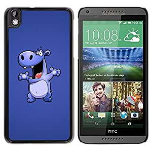 Impact Case Cover with Art Pattern Designs FOR HTC DESIRE 816 Hippo Drawing Cartoon Big Animal Dance Betty shop