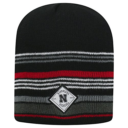 Top of the World Nebraska Cornhuskers Official NCAA Uncuffed Knit Avenue Stocking Stretch Sock Hat Cap Beanie 464107