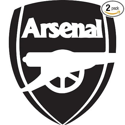 Amazon com: NBFU DECALS Premier League FC Arsenal Logo (Black) (Set