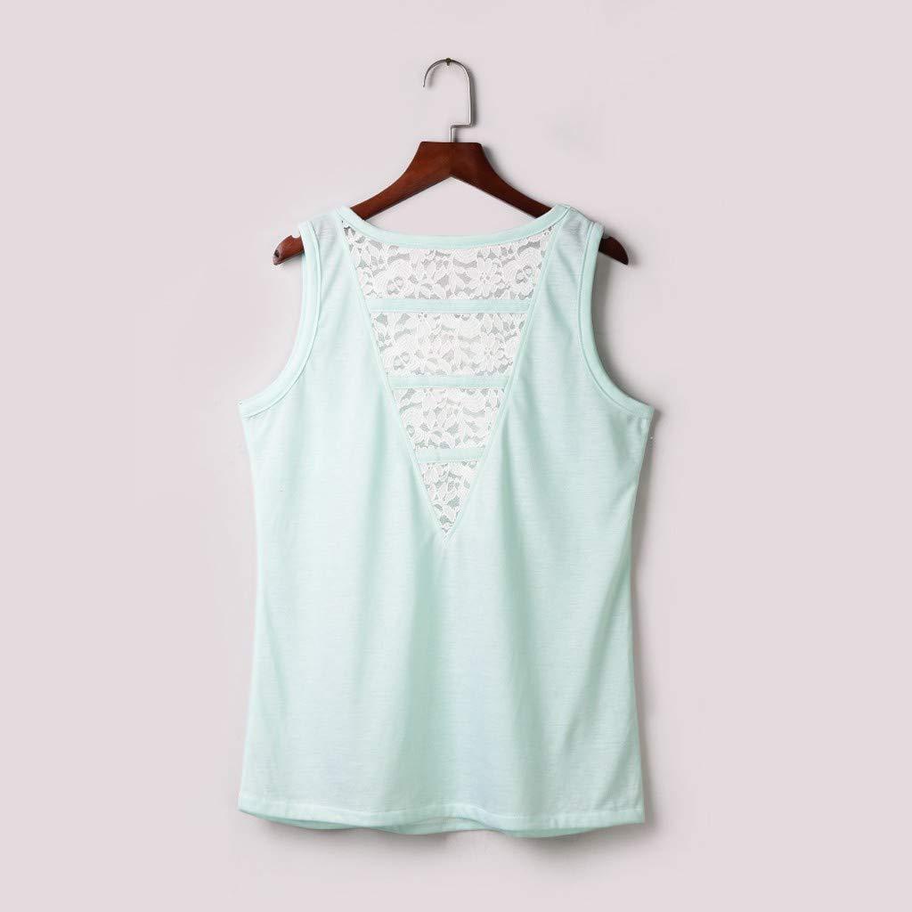 TPulling Gilets ♥ Camiseta de Manga Corta para Mujer con Cuello ...