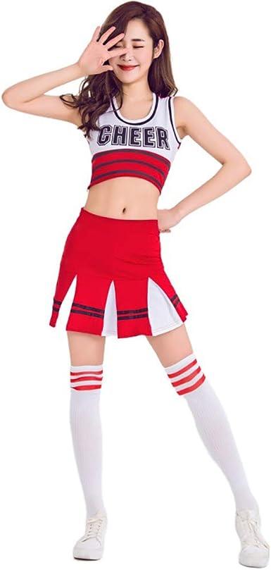 Cheerleader Uniformes de Las Mujeres Traje de Cosplay Vestido ...