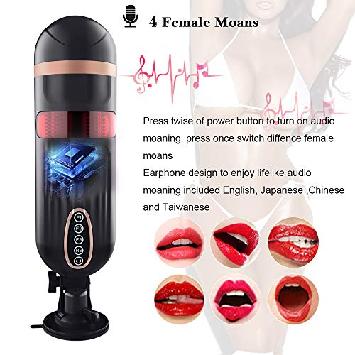 WeDol Male Masturbator Cup with 10 Peristalsis Roations 10 Telescopic Modes and 10 Speeds Heating Eletctric Masturbation 3D Realistic Vagina Stroker Masturber Toys with 4 Sexy Moaning Stimulator by WeDol (Image #3)