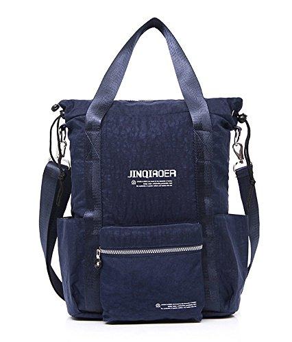 Ecokaki(TM) Fashion Shoulder Bag for Traveler Oversized Casual Handbag Crossbody Hobo Style Tote Vintage Extra Large Shopper Everyday Backpack, Dark Blue (Shopper Body Cross)