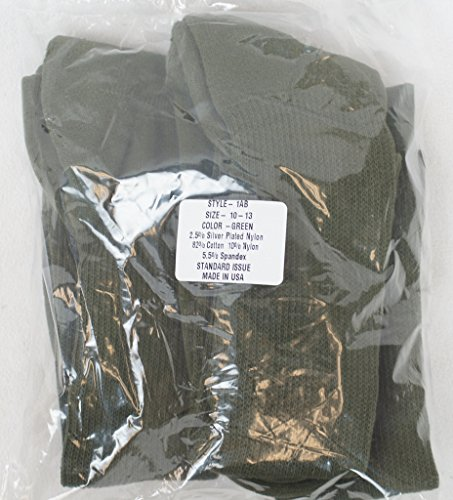 USOA GI MILITARY SURPLUS ANTI-MICROBIAL BOOT SOCK OLIVE DRAB GREEN 3 PAIR
