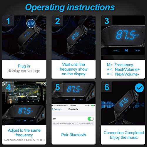 durable service Bluetooth FM Transmitter For Car, LUTU Car