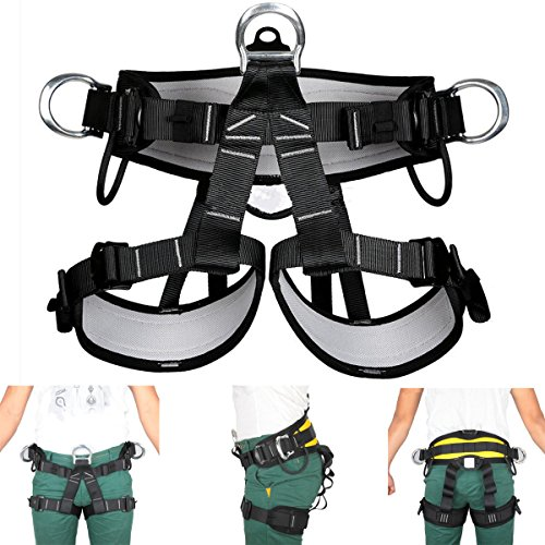 HITSAN Pro Tree Carving Fall Protection Rock Climbing Equip Gear Rappelling Harness One Piece by HITSAN