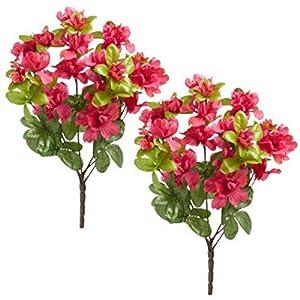 Nantucket Home Azalea Artificial Flower Spray Bushels 6 Stems, Set of 2 2