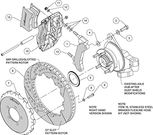 Amazon Com New Wilwood Disc Brake Kit Front Rear 13 Drilled
