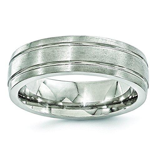 Edward Mirell Titanium 7mm Miligrain Wedding Band Ring ()