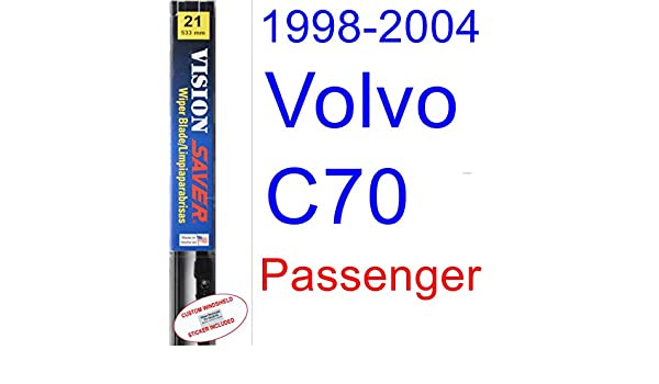 Amazon.com: 1998-2004 Volvo C70 Wiper Blade (Passenger) (Saver Automotive Products-Vision Saver) (1999,2000,2001,2002,2003): Automotive