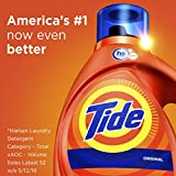 Tide Original Scent HE Turbo Clean Liquid Laundry Detergent, 50 Fl Oz (32 Loads), 2 Count (Packaging May Vary)