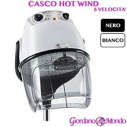Casco pelo Peluquería blanco o negro 6 Velocita Hot Wind arredamento Ceriotti