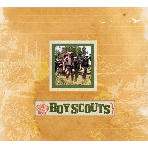 Boy Scout Scrapbook - K&Company Boy Scout Frame A Name 12-by-12-Inch Scrapbook