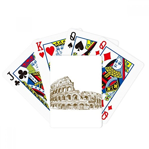 Italy Rome Landmark Sketch Landscape Poker Playing Cards Tabletop Game Gift by beatChong
