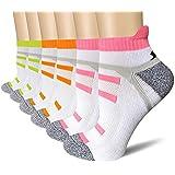 BERING Women's Performance Athletic Running Tab Socks (6 Pair Pack)