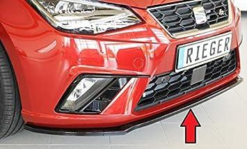 Rieger Frontal Alerón Espada Negro Brillante para Seat Ibiza (KJ)/FR (KJ): 01.17 de: Amazon.es: Coche y moto