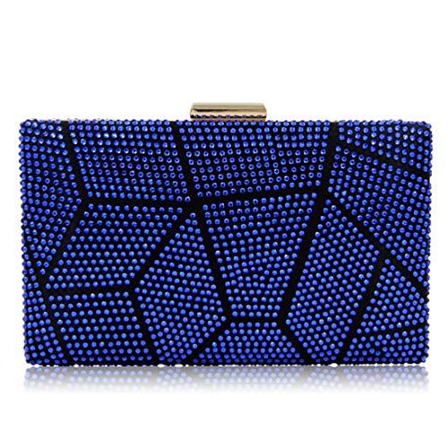 Cucita Pranzo Con Diamanti Sera color Mallty Multicolore Blue Da Borsa Color Picture FXwnT4