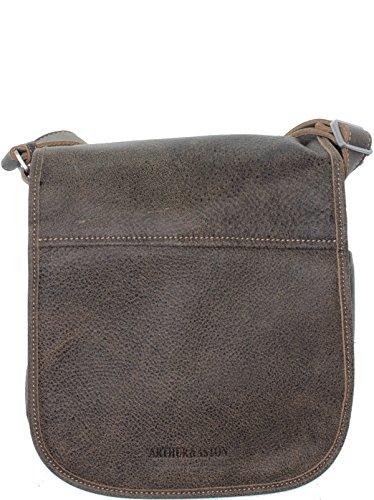 Arthur & aston - Sacoche bandoulière Arthur et Aston en cuir ref_ast36143-b-marron