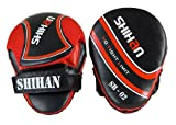 SHIHAN-CHAMP Exclusive LEATHER Punch Mitts, Focus Pads Pads SHIHAN RED 1 Pair