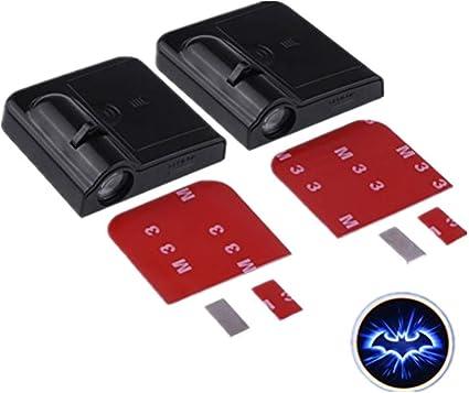 Onerbuy 2 x proyectores LED para puerta de coche, inalámbricos ...