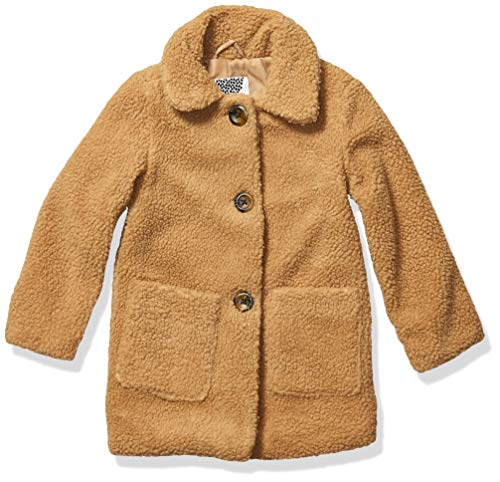 Kensie - Girl's Outerwear Girls' Little Long Teddy Jacket, Camel, 5/6 from Kensie - Girl's Outerwear